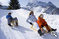 Rodelvergnügen pur in den Kitzbüheler Alpen