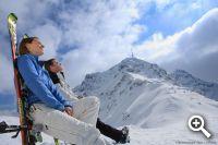 Sonnenskilauf in den Kitzbüheler Alpen